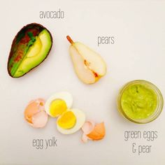 Green Eggs & Pear Puree