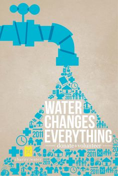 charity: water poster is short, sweet, to the point - and makes a hard hitting impact about the company's purpose.