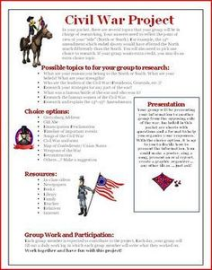 Unit Lesson Plan: Civil War Lesson Plan, Project, and Activities Answer KEY Common Core ELA History Social Studies Standards Met: 1,2,4,7,Thi...