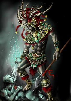 Aztec Warrior by ~XeNiitA on deviantART