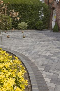 Guiding demonstrated car porch design Contact us today Front Garden Ideas Driveway, Driveway Design, Driveway Landscaping, Landscaping Ideas, Block Paving Driveway, Stone Driveway, Patio Stone, Paver Walkway, Garden Paving