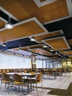Suspended wood panel ceiling idea - Armstrong