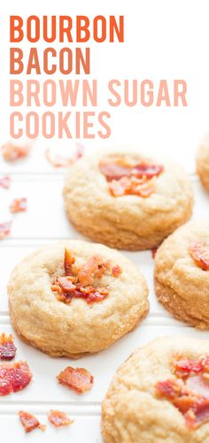 These Bourbon Bacon Brown Sugar Cookies combine the salty flavor of bacon with the warm and rich taste of bourbon all in a fluffy, soft-batch style cookie.