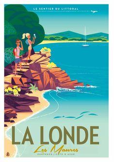 Monsieur Z Paris Illustration, Travel Illustration, Illustrations Vintage, Illustrations And Posters, Vintage Travel Posters, Vintage Postcards, Tourism Poster, Beach Posters, Art Deco Posters