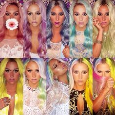 Kesha's rainbow. I can't have pastel hair so I will live it through her...