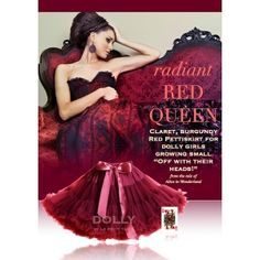 DOLLY by Le Petit Tom ® RED QUEEN pettiskirt ruby. Light chiffon skirt for instant princess looks! well you always wear your DOLLY of course! Ballet Bag, Ballet Fashion, Red Queen, Chiffon Skirt, Satin Bows, Stylish Kids, Couture, Everyday Fashion, Ball Gowns