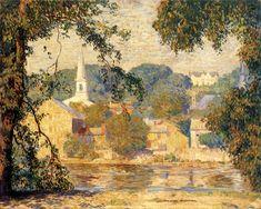 Landscape Art, Landscape Paintings, Modern Paintings, Art Paintings, Landscapes, American Impressionism, Bucks County, American Artists, Art Oil