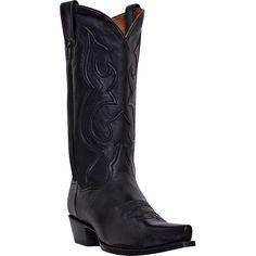 Homme Noir Classique Botines Cuir Bottines Western Cowboy Boots Rodeo Round formelle