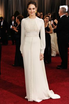 84th Annual Academy Awards shailene woodley white dresses wedding dress ideas red carpet 2012 red carpet looks best dressed 2012 long sleeve white dress white gown wedding party app blog