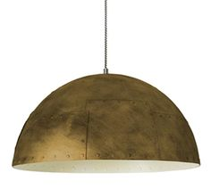Leds C4 'Neo' IP20 Large 3 Light Ceiling Pendant, Old Gold Finish With Off-White Interior - 00-2908-E2-16