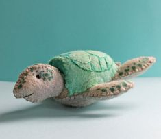 Swirly Turtle a hand sewn turtle from felt by jennifercarson, $3.00