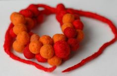 necklace from felted wool