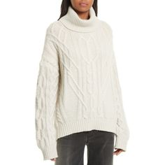 Women's Nili Lotan Everly Rib Knit Cashmere Sweater (£715) ❤ liked on Polyvore featuring tops, sweaters, light grey melange, wool cashmere sweater, cashmere sweater, oversized tops, oversized sweater and over sized sweaters