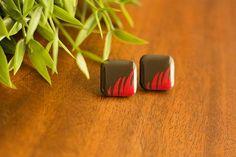 Fern - Decoupaged Wooden Stud Earrings – Naoi