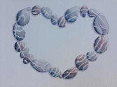 ARTFINDER: Stone Love- framed by Jill Griffin - I have been painting pebbles for most of my career but it's taken an epiphany to make a work that presents them in a coherent way...a pebble on its own does ...