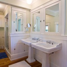 Double Pedestal Sinks Design Ideas, Pictures, Remodel, and Decor - page 2