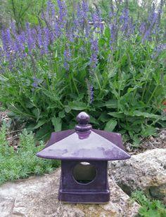 Handbuilt Ceamic Japanese Garden Lantern hand built by ClaySoul  My Lantern, Clay Soul's garden.