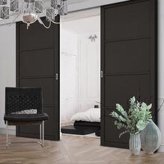 For those wanting something different, stand out from the crowd with our new black primed range, Double Sliding Door & Wall Track - Soho 4 Panel Door - Black Primed Sliding Cabinet Doors, Double Sliding Doors, Double Front Doors, 4 Panel Doors, Buy Front Door, Doors Online, Flush Doors, Door Furniture, Folding Doors
