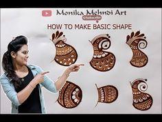 how to make बेसिक शेप Floral Henna Designs, Stylish Mehndi Designs, Full Hand Mehndi Designs, Mehndi Designs For Girls, Mehndi Designs For Beginners, Mehndi Design Photos, Wedding Mehndi Designs, Mehndi Designs For Fingers, Beautiful Mehndi Design