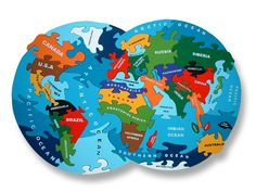 Our Map of the World is an incredibly intricate wooden jigsaw puzzle. This puzzle is a great way for kids to learn world geography. Wooden Map, Wooden Jigsaw Puzzles, World Map Puzzle, Plastic In The Sea, Wooden Baby Toys, Sustainable Gifts, Green Toys, Eco Friendly Toys, Sea And Ocean