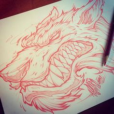 Sketching during lunch. #sketch #art #absorb81 #illustration #graffiti #character #wolf #prismacolor #pencil