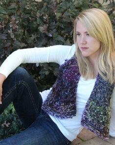 Mitered Square Vest Free Knitting Pattern