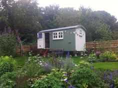 My shepherds hut, just lovely! Shepherds Hut, Backyard Paradise, Open Spaces, Tiny House, Places, Garden, Garten, Tiny Houses, Lawn And Garden