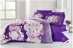 Holey Quilt obliečky Bavlna Deluxe  Charlotte lila 140x200, 70x90cm