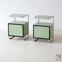 Cabinets by Rudolf Vichr Company Design Dream Furniture, Art Deco Furniture, Metal Furniture, Vintage Furniture, Home Furniture, Modern Furniture, Furniture Design, Bauhaus Furniture, Interior Decorating