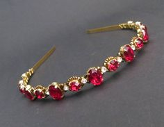 Swarovski headband,wedding headband,crystal headband,bronze headpiece, bridesmaid headpiece,gold headband,red headband,tiara,gold crown