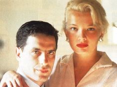 """xwg: """" Gena Rowlands & John Cassavetes, 1960 photographed by Peter Falk """""""