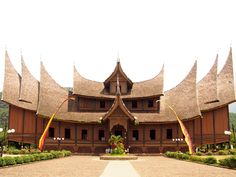 Welcome to West Sumatra Vernacular Architecture, Architecture Design, Building Design, Building A House, Bamboo House Design, Minangkabau, Thai House, House Information, Shipping Container House Plans