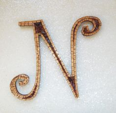 Beautiful Hand Made Mosaic Alphabet Letter Initial J One Of A