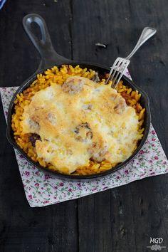 Arroz con butifarra y setas gratinado con Alioli | Cocinar en casa es facilisimo.com