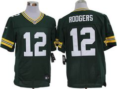 Nike Packers #12 Aaron Rodgers Green Team Color Mens NFL Elite Jersey