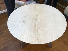 Premium ceramic top table. Moon extendable dining table. Round table that extends into an oval table (120cm - 180cm). Delivered to our client in Nottingham.