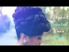 Here's another faux updo protective hairstyle that's super cute and easy! If you're transitioning, natural, relaxed or in need of a protective hairstyle this tutorial is perfect for you. Updo Tutorial, Natural Hair Updo, Natural Hair Styles, Protective Styles, Teen Hairstyles, Black Hairstyles, Wedding Hairstyles, Natural Hair Inspiration, Stylish Hair