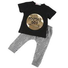 KONFA Baby Girls 2Pcs Outfits Clothes Set for Toddler Kids Newborn Sweet Doughnut Romper Tops+Dress Ruffles Skirt