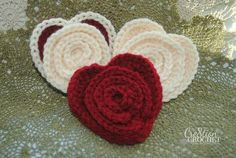 Layered Flower in a Heart free crochet pattern