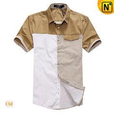 Mens Fashion Original Matching Design Shirts Short Sleeve CW100323 $108.67 - www.cwmalls.com