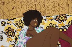 Why Can't We Just Sit Down And Talk It Over, Mickalene Thomas, 2006 Screenprint