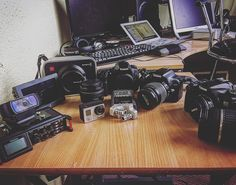 Weapons of warfare for #gl360productions from #canon #dslr to #blackmagiccinemacamera and we use #tascam and #zoom too we like to keep it flexible !!!