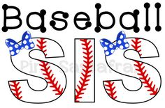 Baseball Sister Iron On Transfer by PinkSassafras on Etsy