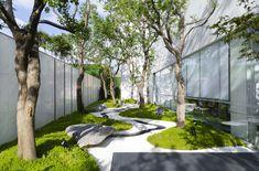 Zen Garden Design, Courtyard Design, Japanese Garden Design, Landscape And Urbanism, Landscape Design Plans, Landscape Architecture Design, Chinese Landscape, Contemporary Landscape, Urban Landscape