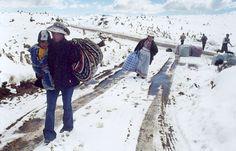 Nevadas en zonas de Puno