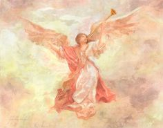 Angel Heralds The Dawn Painting by John Alan Warford