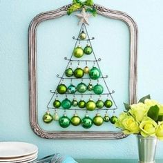 Christmas trees don't just have to sit in the living room with ornaments - Cute idea