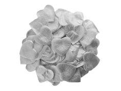 Silver Silk Heart Petals (500)
