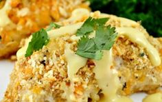Crispy Oven Baked Ritz Cheesy Chicken--TRY THIS