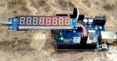 """A red 7-segment LED display can make a project feel a bit more """"electronic"""" and a bit less """"computer""""."""